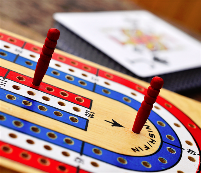 a cribbage board